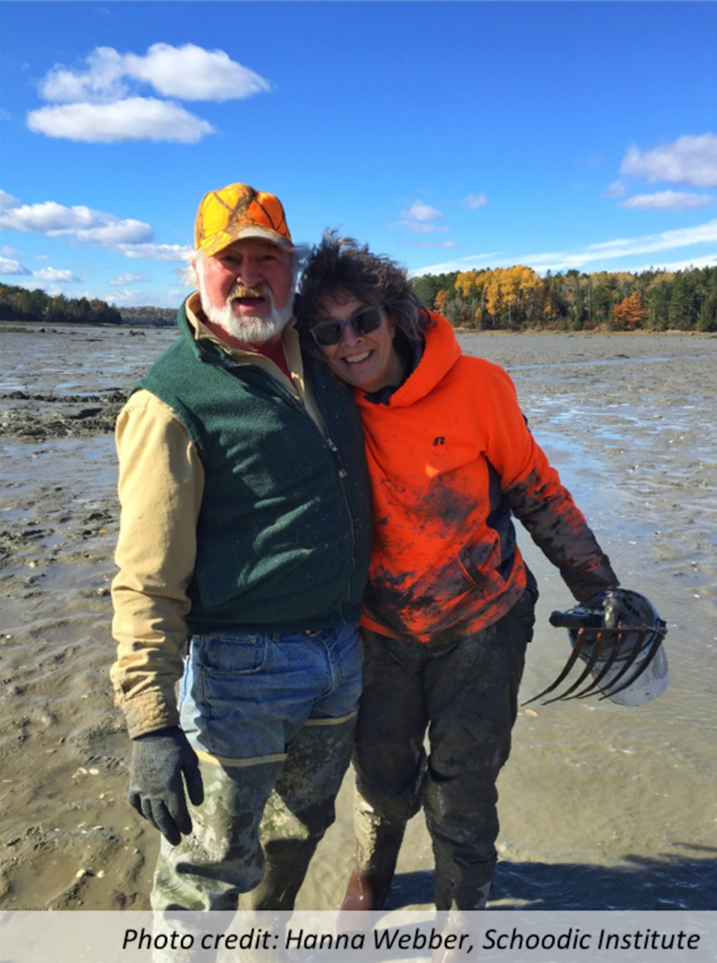 Becky Cole-Will (Acadia National Park) accompanies Fred Johnson (IMMWHA) on a worm-along