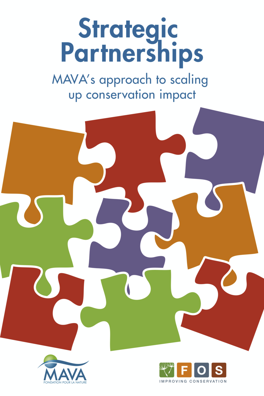 The cover of the MAVA Strategic Partnerships book